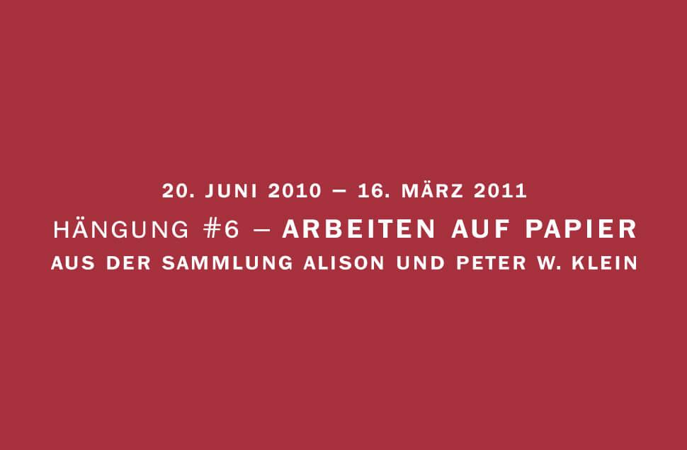 Kunstwerk - Sammlung Klein - Nussdorf - Museum - Kunst - Art - Baden-Württemberg - Hängung #6 - Arbeiten auf Papier
