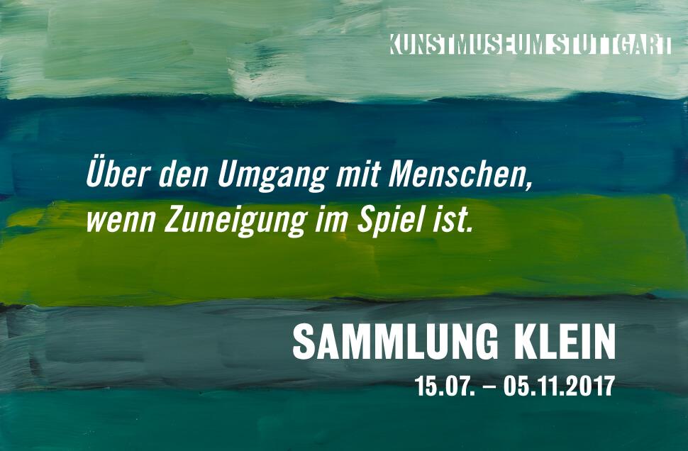 Kunstwerk - Sammlung Klein - Nussdorf - Museum - Kunst - Art - Baden-Württemberg - Kunstmuseum Stuttgart - Über den Umgang mit Menschen wenn Zuneigung im Spiel ist - Ulrike Groos - Sarah Donate Schneider