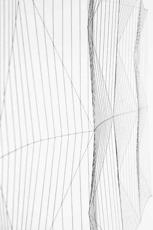 Kunstwerk - Sammlung Klein - Nussdorf - Museum - Kunst - Art - Baden-Württemberg - Manuel Knapp - Spacebox No. 1 - 2014 - Faden Nylon Nägel - Detail