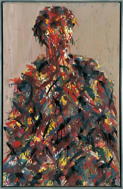 Kunstwerk - Sammlung Klein - Nussdorf - Museum - Kunst - Art - Baden-Württemberg - Max Uhlig - Kleines Bildnis J.P. - 1993 - Öl auf Leinwand