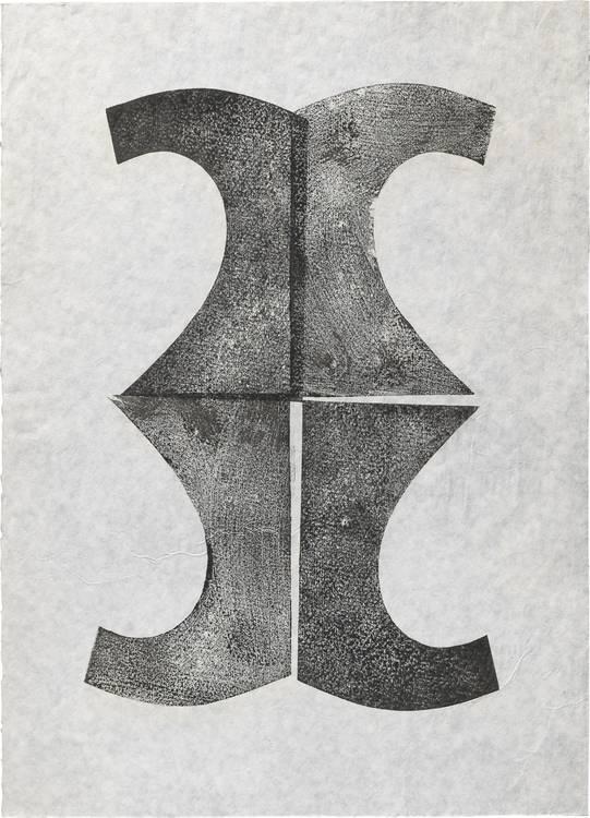 Kunstwerk - Sammlung Klein - Nussdorf - Museum - Kunst - Art - Baden-Württemberg - Hermann Glöckner - ohne Titel - 1963/71 - Handdruck - Monotypie
