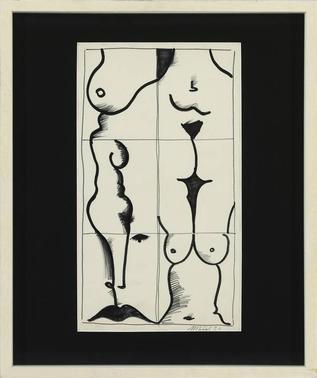 Kunstwerk - Sammlung Klein - Nussdorf - Museum - Kunst - Art - Baden-Württemberg - Ivan Chuikov - Fragmente Nr. 1, 1970, Tusche auf Papier