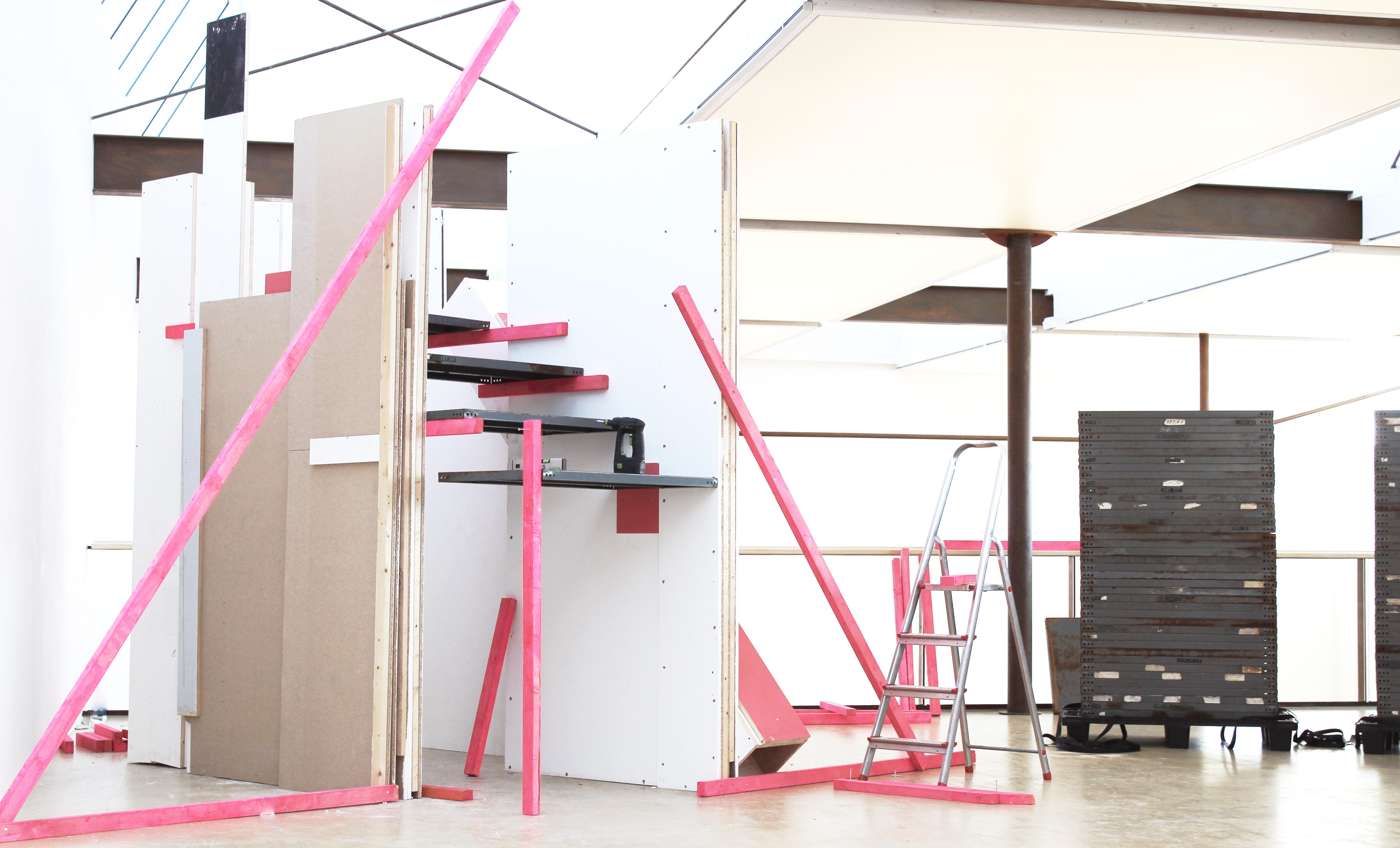 Umschichten - Sammlung Klein - Bauphase 2 - Hängung #18 - Räumlichkeiten